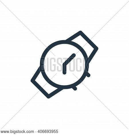 watch icon isolated on white background from electronics collection. watch icon thin line outline li