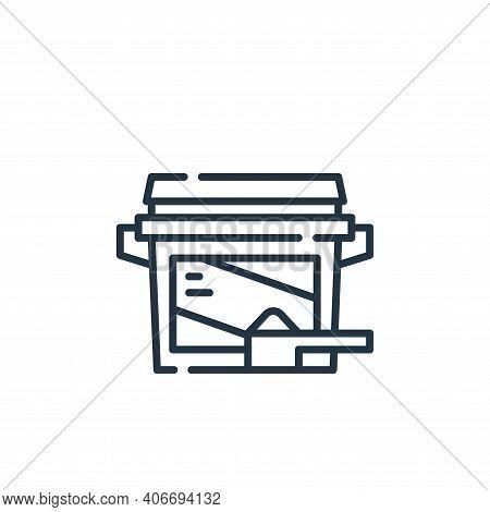 washing powder icon isolated on white background from cleaning collection. washing powder icon thin