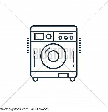 washing machine icon isolated on white background from technology devices collection. washing machin