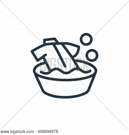 washing clothes icon isolated on white background from health and protection collection. washing clo