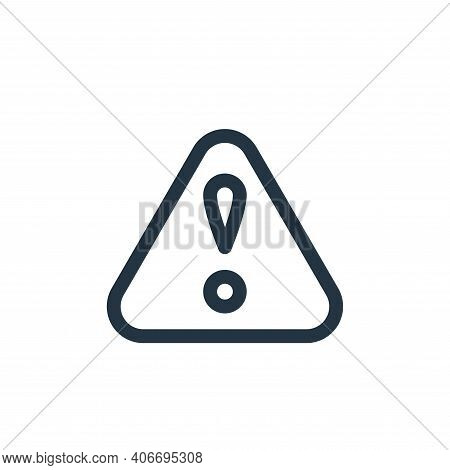 warning icon isolated on white background from emergencies collection. warning icon thin line outlin