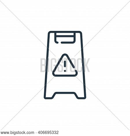 warning icon isolated on white background from mall collection. warning icon thin line outline linea