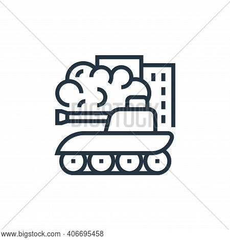 war icon isolated on white background from business risks collection. war icon thin line outline lin