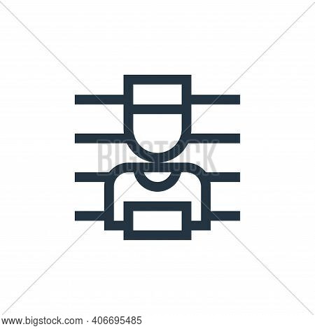 wanted icon isolated on white background from news collection. wanted icon thin line outline linear