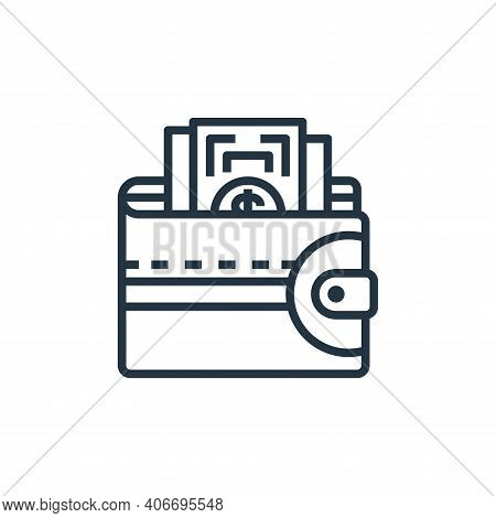 wallet icon isolated on white background from motorway collection. wallet icon thin line outline lin