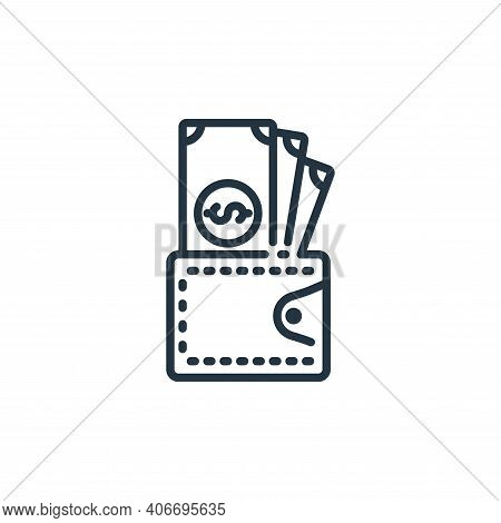 wallet icon isolated on white background from banking and money collection. wallet icon thin line ou
