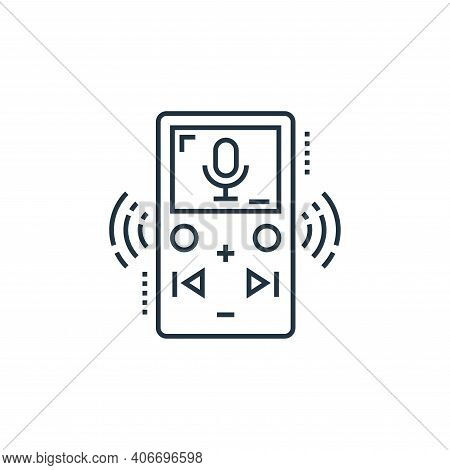 voice recorder icon isolated on white background from technology devices collection. voice recorder