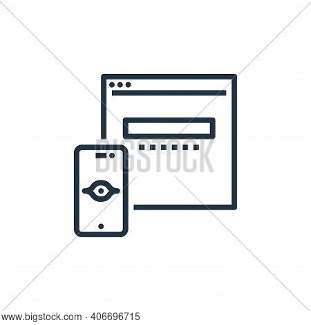 vision icon isolated on white background from branding collection. vision icon thin line outline lin
