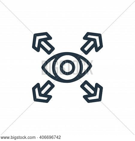 vision icon isolated on white background from business collection. vision icon thin line outline lin