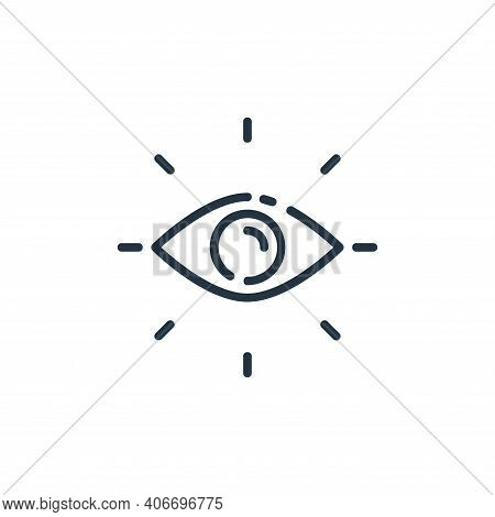 vision icon isolated on white background from user interface collection. vision icon thin line outli