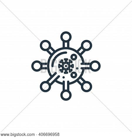 virus icon isolated on white background from virus collection. virus icon thin line outline linear v