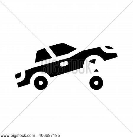 Car Rapper Glyph Icon Vector Illustration Flat