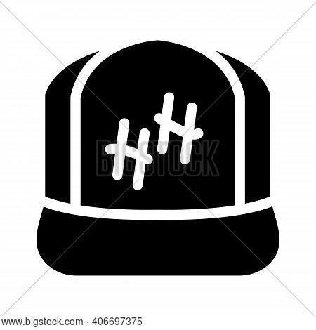 Cap Rapper Glyph Icon Vector Illustration Flat