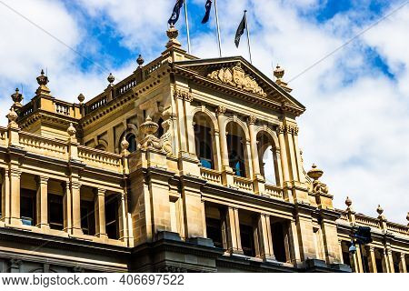 The Old Treasury Building In Downtown Brisbane, Australia, 2021