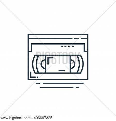videotape icon isolated on white background from technology devices collection. videotape icon thin