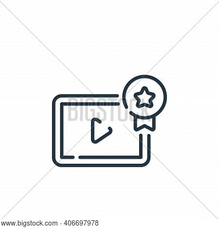 video player icon isolated on white background from social media collection. video player icon thin