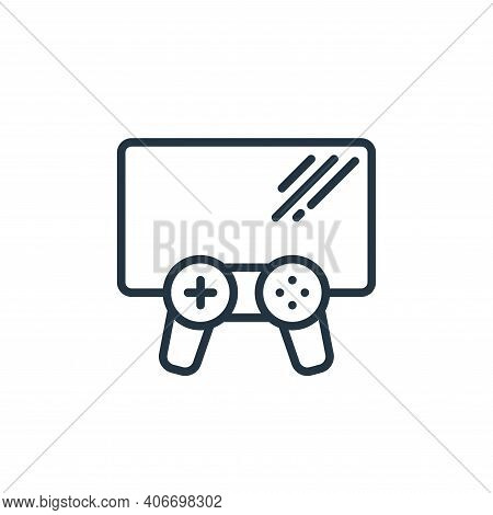 video game icon isolated on white background from stay at home collection. video game icon thin line