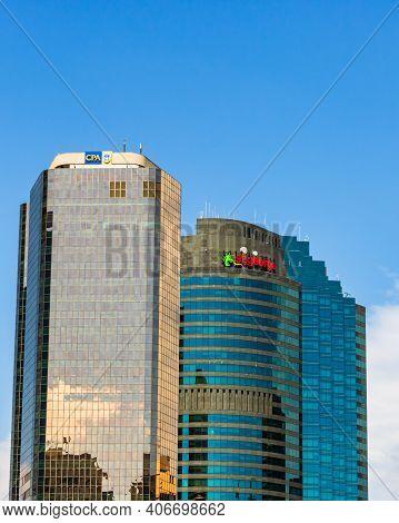 Cityscape Image Of Brisbane Skyline In Downtown Brisbane, Australia, 2021