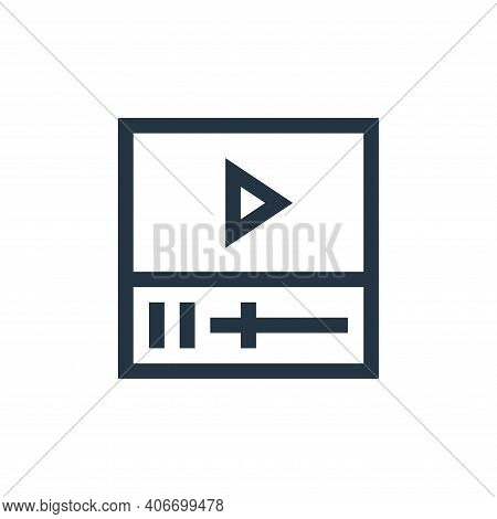 video icon isolated on white background from news collection. video icon thin line outline linear vi