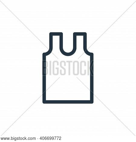 vest icon isolated on white background from fashion collection. vest icon thin line outline linear v