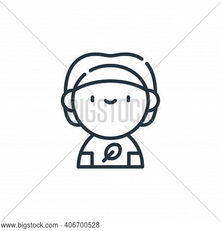 vegan icon isolated on white background from animal welfare collection. vegan icon thin line outline