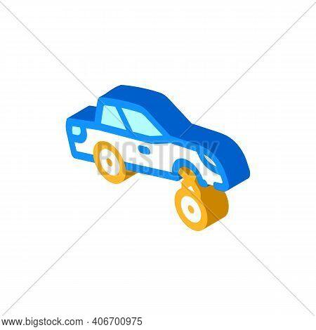 Car Rapper Isometric Icon Vector Illustration Flat