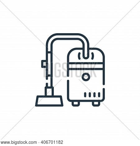 vacuum icon isolated on white background from cleaning collection. vacuum icon thin line outline lin