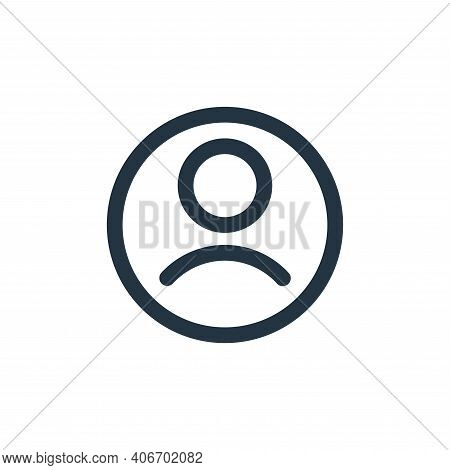 user icon isolated on white background from user interface collection. user icon thin line outline l