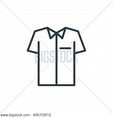 uniform icon isolated on white background from wardrobe collection. uniform icon thin line outline l
