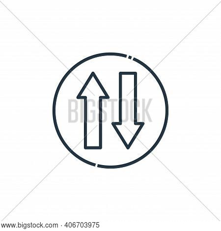 Two way icon isolated on white background from signaling collection. Two way icon thin line outline