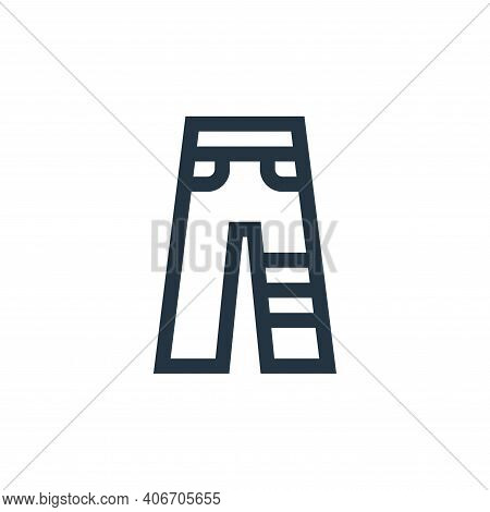 trousers icon isolated on white background from rock and roll collection. trousers icon thin line ou