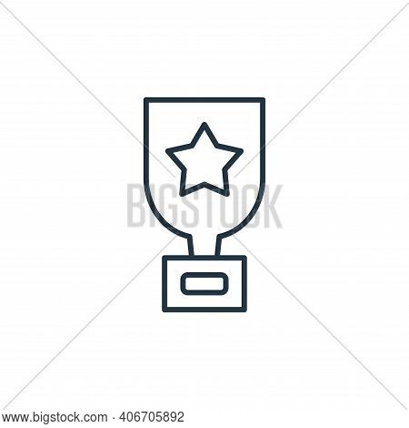trophy icon isolated on white background from leadership collection. trophy icon thin line outline l