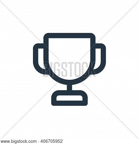 trophy icon isolated on white background from user interface collection. trophy icon thin line outli