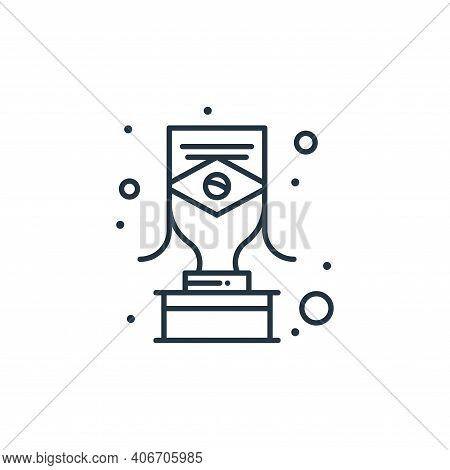 trophy icon isolated on white background from brazilian carnival collection. trophy icon thin line o