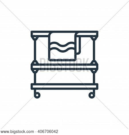 trolley icon isolated on white background from laundry collection. trolley icon thin line outline li