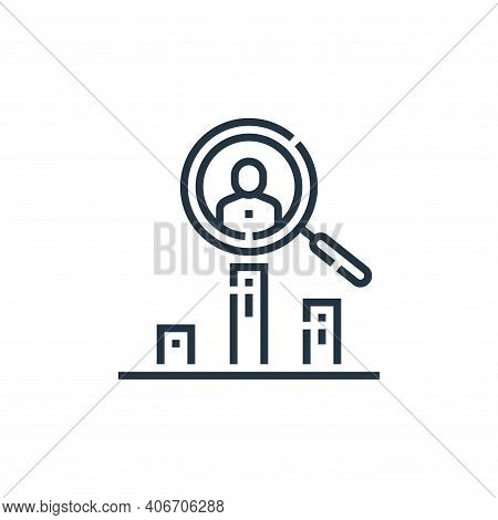trending icon isolated on white background from videoblogger collection. trending icon thin line out