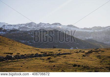 Chapel Of The Good Shepherd Ermita De El Buen Pastor At Lago De Enol Ercina Lakes Of Covadonga Picos