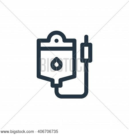 transfusion icon isolated on white background from medicine collection. transfusion icon thin line o