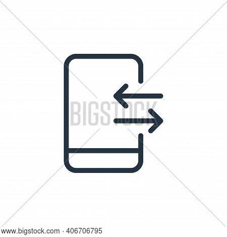 transfer icon isolated on white background from data transfer collection. transfer icon thin line ou