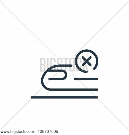 train icon isolated on white background from coronavirus collection. train icon thin line outline li