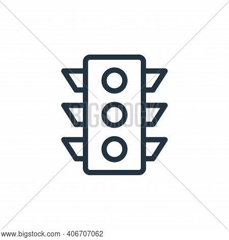 traffic signal icon isolated on white background from navigation collection. traffic signal icon thi