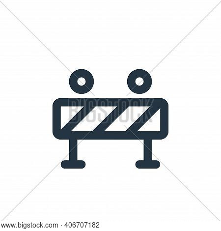 traffic barrier icon isolated on white background from labour day collection. traffic barrier icon t