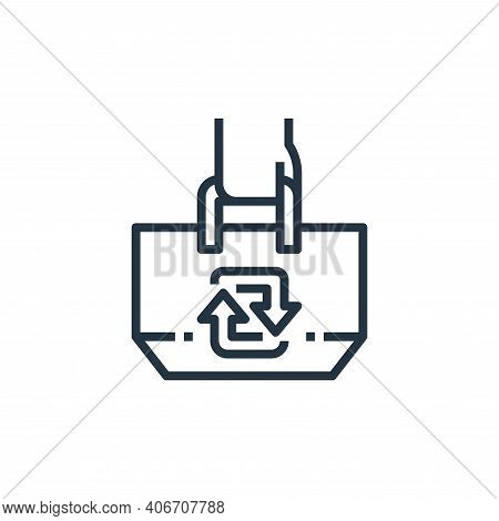 tote bag icon isolated on white background from recycling collection. tote bag icon thin line outlin