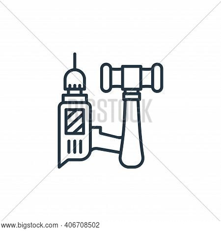tools icon isolated on white background from carpentry collection. tools icon thin line outline line