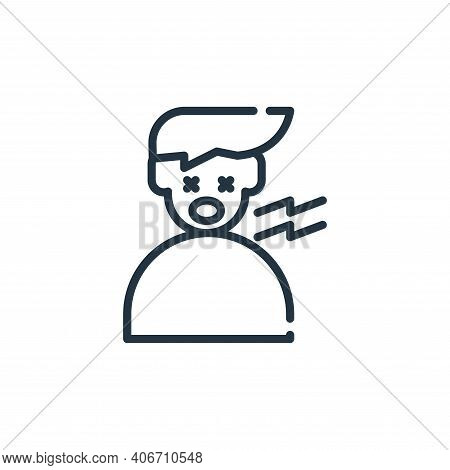 tired icon isolated on white background from symptoms virus collection. tired icon thin line outline
