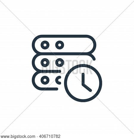 timer icon isolated on white background from work office server collection. timer icon thin line out
