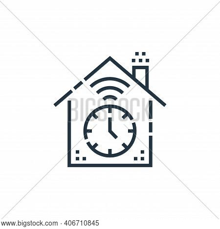 timer icon isolated on white background from smarthome collection. timer icon thin line outline line