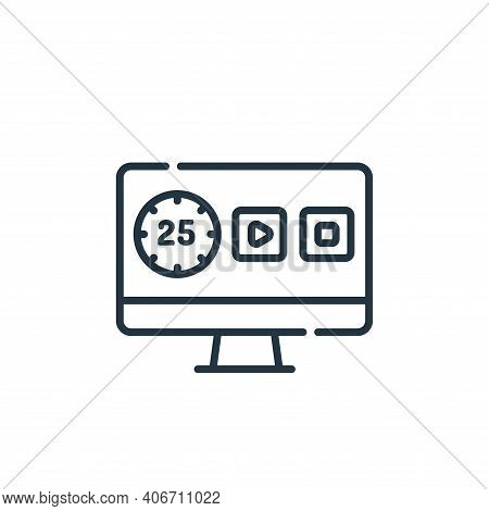 time icon isolated on white background from telecommuting collection. time icon thin line outline li