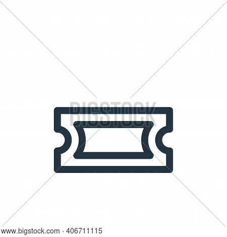 ticket icon isolated on white background from music collection. ticket icon thin line outline linear