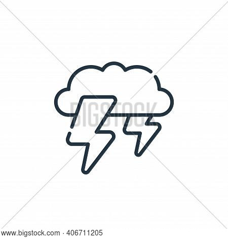 thunderstorm icon isolated on white background from climate change collection. thunderstorm icon thi